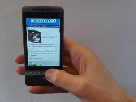VerkeersPro.nl, mobiel, telefoon, MobzMedia
