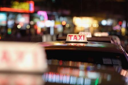 taxi, nacht, standplaats
