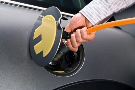 Een Soort Laadstekker Gekozen Voor Opladen Elektrische Auto