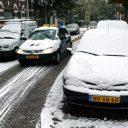sneeuw, lesauto, gladheid
