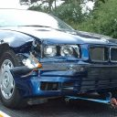 schade, auto, botsing