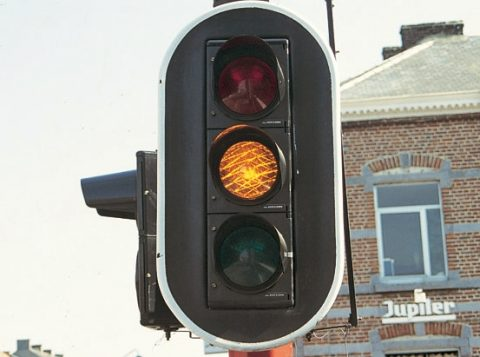 oranje verkeerslicht