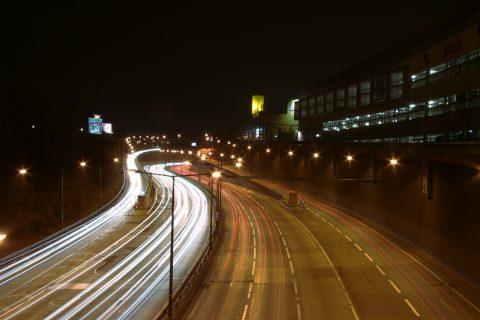 snelweg, nacht