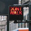 verkeerslicht, New York, voetganger, ongeluk