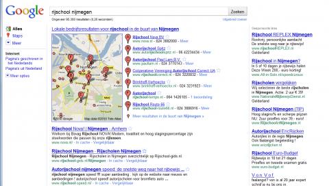 Google, Places, rijschool