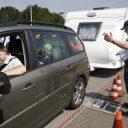 caravan, controle, rijbewijs, politie, gewicht,auto, aanhanger