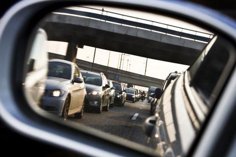 spiegel, auto, verkeer