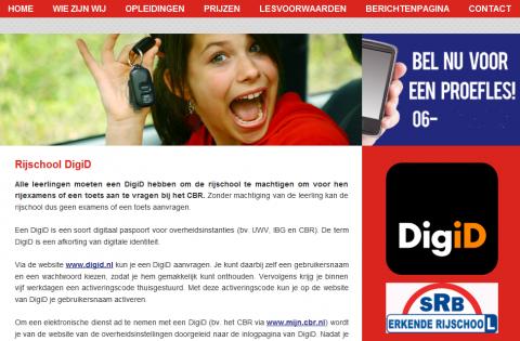 website, rijschool, logo, Stichting Rijschool Belang, SRB
