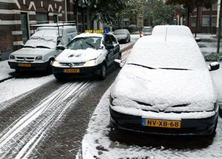 lesauto, sneeuw, rijexamen, CBR