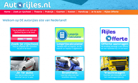 autorijles.nl, website, rijschool, leerling, SRB