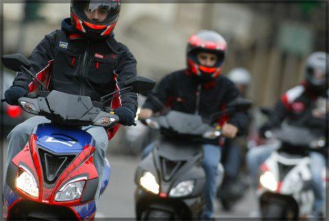 scooter, bromfiets