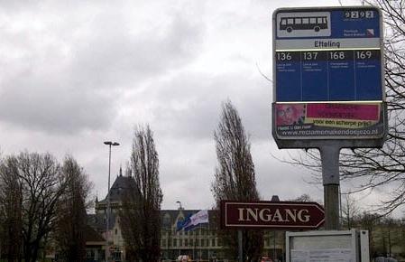 blauw bord, bushalte, Noord-Brabant
