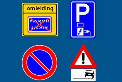 nieuwe verkeersborden