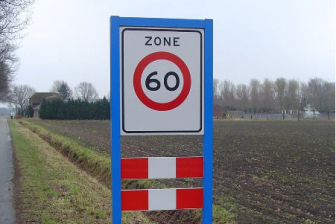 60 kilometer per uur, zone, maximumsnelheid