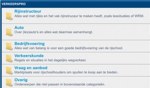 forum, VerkeersPro.nl, rijschool, rijinstructeur