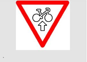 verkeersbord, België, fietser door rood