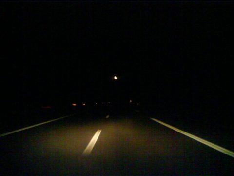 donkere snelweg