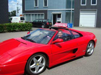 Ferrari, F355 GTS, Rijschool, Stuivenvolt, lesauto, rijles