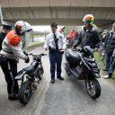 controle, bromfiets, politie, scooter