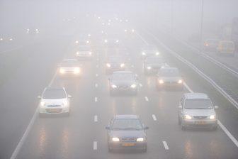 mist, ochtendspits, snelweg