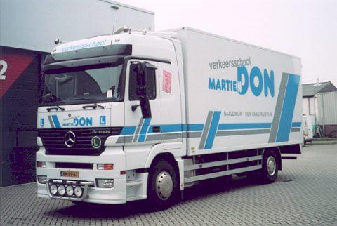 vrachtauto, rijles, Martien Don