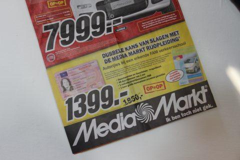 MediaMarkt, Folder, Rijbewijs