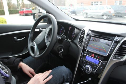 AchteruitRijCamera, Hyundai i30, lesauto, dashboard