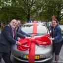 Peter van Neck (VRB), Maarten van Biezen (Natuur & Milieu) en wethouder Alexandra van Huffelen