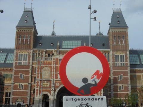 straatkunst Clet Abraham, Amsterdam
