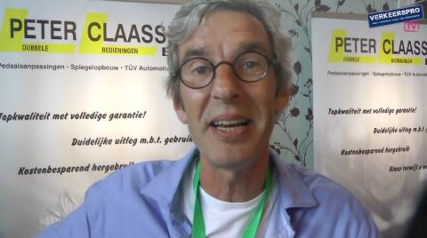Peter Claassen, dubbele bedieningen, Rijschoolbeurs, Lesauto Testdag