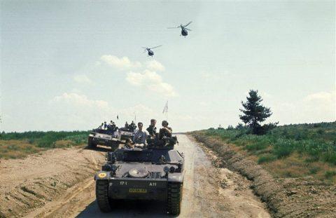 defensie, voertuig, ruw terrein, oefenterrein