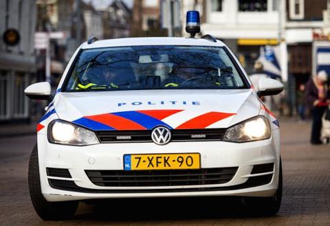 Politieauto, politieacademie,