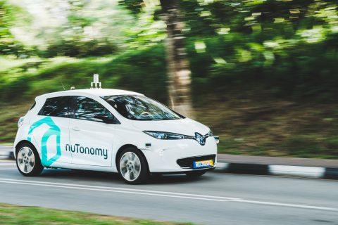 Zelfrijdende auto van nuTonomy