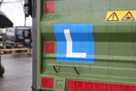 T-rijbewijs, tractor, l-bord