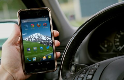 app, smartphone, telefoon, stuur