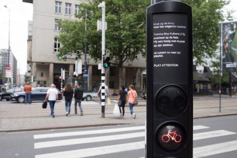 fietslicht, verkeerslicht, rotterdam