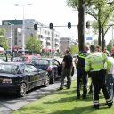 Rijinstructeur tijdens werk onder invloed en aangehouden, IJsselmeerlaan in Leiden. Foto AS Media