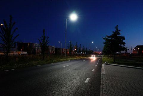 Straatverlichting. foto Havenbedrijf Moerdijk