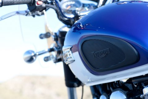 Motorfiets. foto Triumph