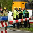 Ongeval lesauto en trein in Bussem. foto AS Media