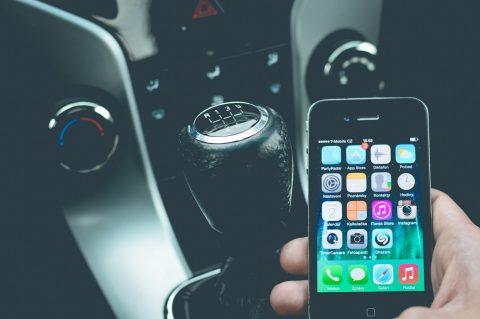 smartphone, auto, apps, afleiding