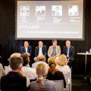 Nationaal Rijschool Congres, Nationale Rijschooldag 2018. foto Janny Mallee. Vlnr: Ernest Alvares, Wilbert van Beersum, Chris Verstappen en Harold Bekhuis