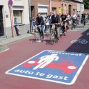 Fietsstraat in Turnhout. foto Flickr/Bart Cabanier
